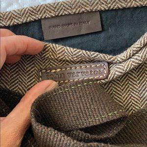 John Varvatos Bags - John Varvatos wool chevron messenger bag